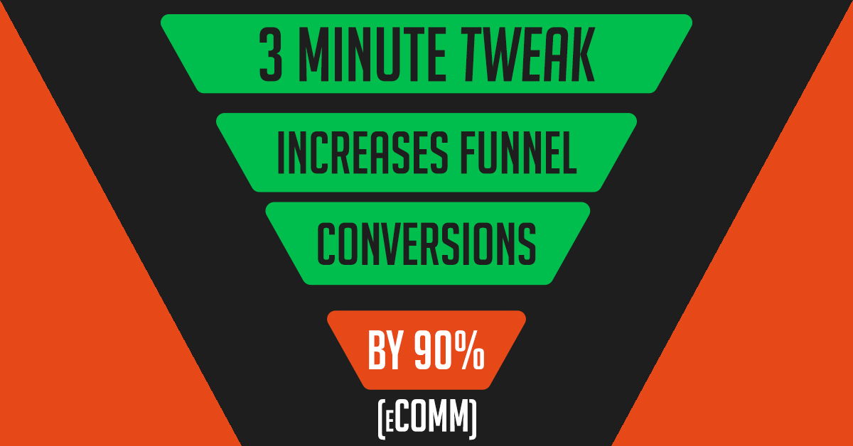 3-minute tweak increases funnel conversions by 90% (eComm)